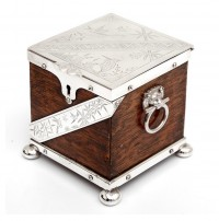 Oak Tea Caddy